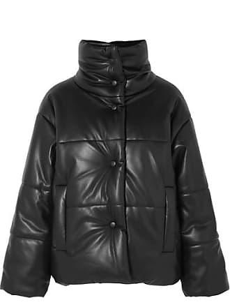 Nanushka Hide Quilted Vegan Leather Jacket - Black