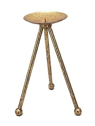 Sagebrook Home 11049 Metal Candle Holder, Gold Metal, 5.75 x 5.75 x 10 Inches