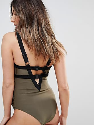 ba10dad935 Wolf   Whistle Maternity Exclusive strappy khaki swimsuit DD - G Cup - Green