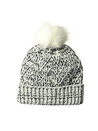 0a55d5fbe16f6 Ellen Tracy Womens Lurex & Marled Yarn Pull On Hat with Cuff, White, One