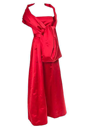 55c85447816 1stdibs Utako 1990s Red Dress Silk Satin Vintage Cropped Top   Long Skirt  Evening Gown