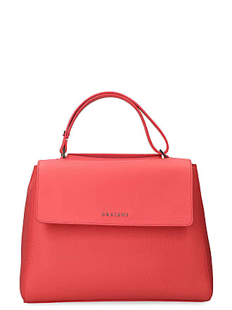 2d0952c012 Orciani WOMENS B02006SOFTGERANIO RED LEATHER SHOULDER BAG