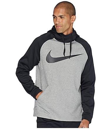 2b84055228ab0c Nike Thermal Hoodie Swoosh Essential (Dark Grey Heather Black Black) Mens  Sweatshirt