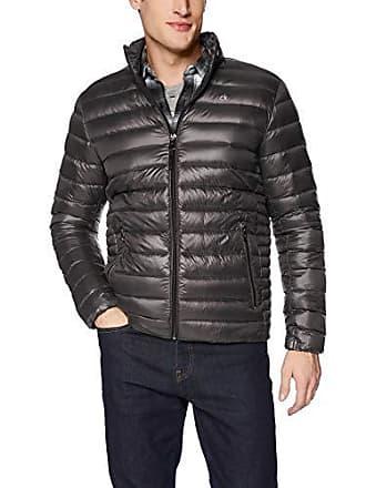 Calvin Klein Mens Packable Down Jacket, Alloy Grey, Large