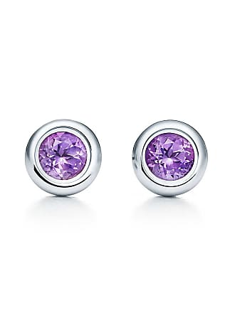 Tiffany Co Elsa Peretti Color By The Yard Earrings In Sterling Silver With Amethysts