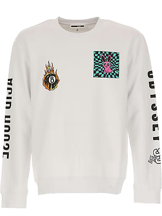 Alexander McQueen Sweatshirt for Men On Sale in Outlet, Optic White, Cotton, 2017, L M