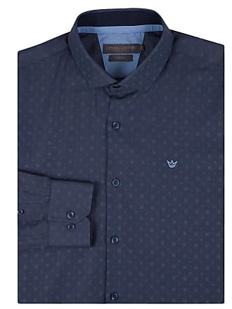 Colombo Camisa Social Masculina Azul Detalhada 50137 Colombo
