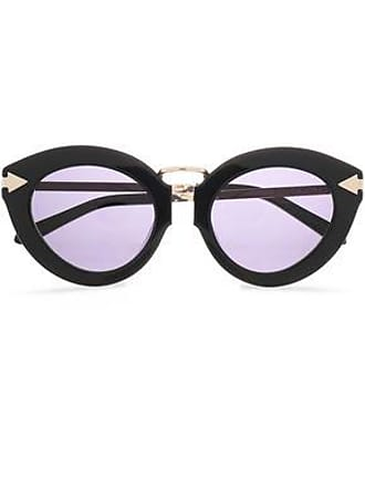 82573e5ca880 Karen Walker Karen Walker Woman Cat-eye Acetate And Gold-tone Sunglasses  Black Size