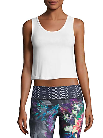 Onzie Knot Cropped Tank Top, White