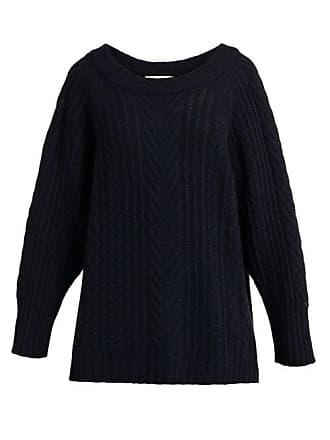 Queene and Belle Queene And Belle - Jasmina Crystal Embellished Cashmere Sweater - Womens - Navy