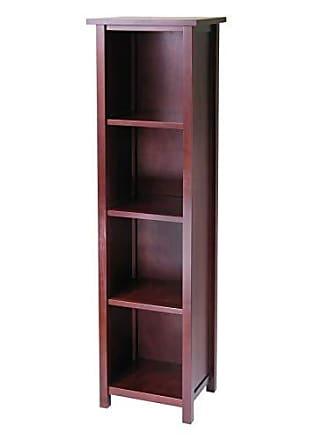Winsome 94416 Milan Storage/Organization, Tall, Antique Walnut