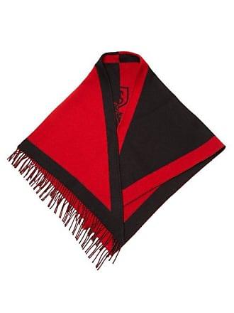 Burberry Logo Crest Wool Blend Bandana - Womens - Red