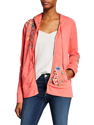c51e738a296 Johnny Was Petite Vernazza Embroidered Zip-Front Hoodie Jacket