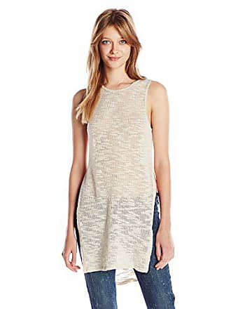 Green Dragon Womens Warm Me Up Side Slit Sleeveless Sweater, Sand X-Small