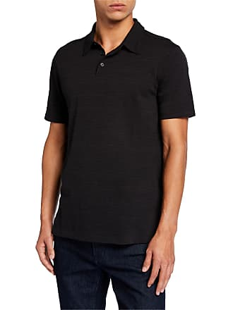 John Varvatos Mens Texture Stripe Polo Shirt