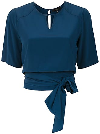 Fillity Blusa com amarração - Azul
