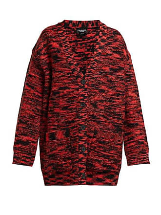 CALVIN KLEIN 205W39NYC Calvin Klein 205w39nyc - Oversized Space Dye Wool Cardigan - Womens - Black Red