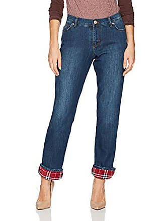 Lee Womens Fleece Lined Relaxed Straight Leg Jean, relic, 14