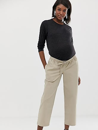 f3f08f0ec45f2 Asos Maternity ASOS DESIGN Maternity chino jogger with under the bump  waistband - Stone