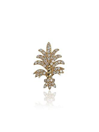 Yvonne Léon 18k yellow gold Bo Fleur diamond earring - Metallic