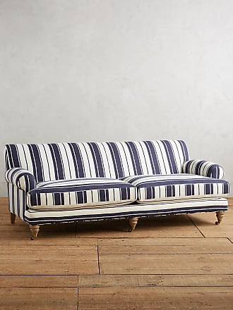 Whit Striped Willoughby Sofa