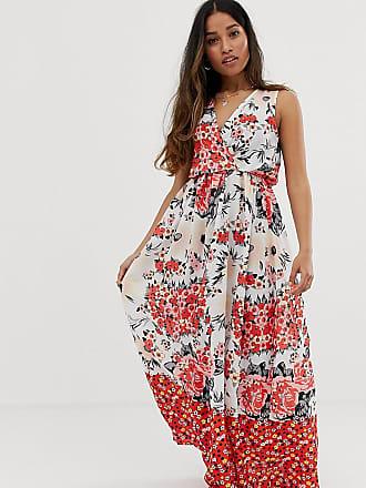 7b540a175993 Parisian Vestito lungo a portafoglio con stampa a fiori - Multicolore