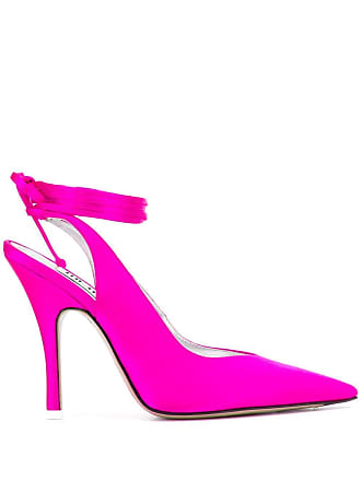 Attico tie ankle pointed pumps - Rosa