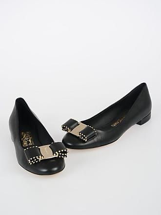 Salvatore Ferragamo Leather VARNIA Ballet Flat with Bow size 6,5