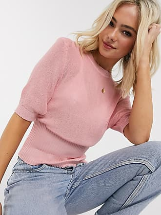 Qed London Kurzärmliger Pullover in Rosa