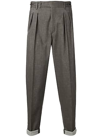 PT01 cropped high-rise trousers - Brown