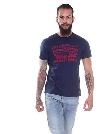 27e09892eb103 Levi s Camiseta Levis Masculina Logo 2 Horse Azul