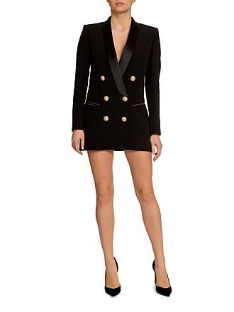 Balmain 6-Button Long Tuxedo Jacket Dress