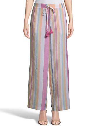 5twelve Striped Straight-Leg Linen Pants