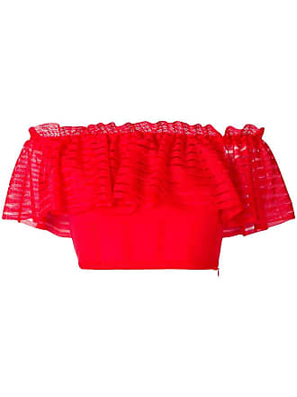 5ca3ffa120 Alexander McQueen cropped off-the-shoulder top - Red