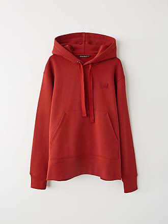 Acne Studios Ferris Face Brick red Hooded sweatshirt