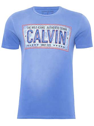 Calvin Klein T-SHIRT MASCULINA ESTAMPA PLACA - AZUL