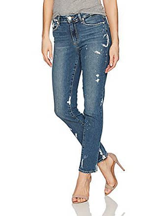 Paige Womens Jacqueline Straight Leg Jeans, Kirsten Distressed, 27