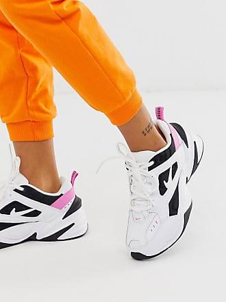 Nike M2K Tekno - Sneakers bianche nere e rosa-Bianco