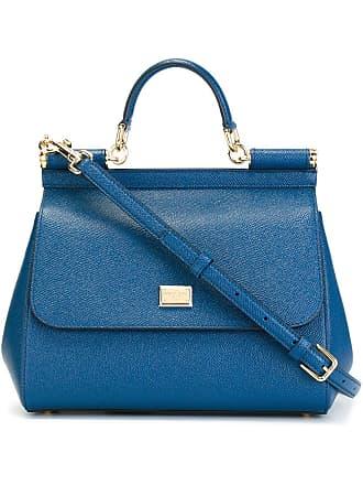 Dolce & Gabbana Bolsa tote Sicily de couro - Azul