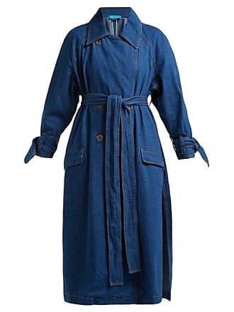 Mih Jeans Audie Double Breasted Denim Trench Coat - Womens - Blue