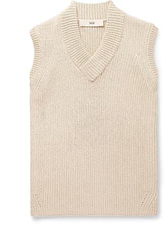 Séfr Ribbed Cotton-blend Sweater Vest - Off-white