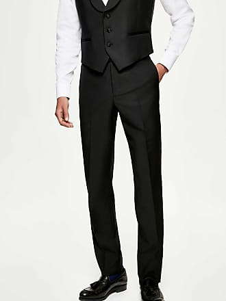 Hackett Mens Regular Fit Dinner Trousers | Size 40 | Black