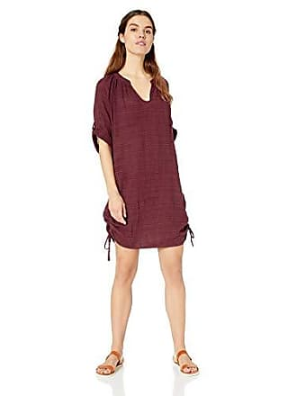 df8b650773f2dc Seafolly Womens Beach Basics Textured Gauze Swimsuit Cover Up, Water Garden  Plum, L US