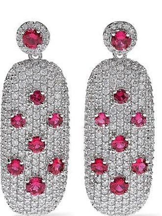 Kenneth Jay Lane Cz By Kenneth Jay Lane Woman Crystal Silver-tone Earrings Silver Size