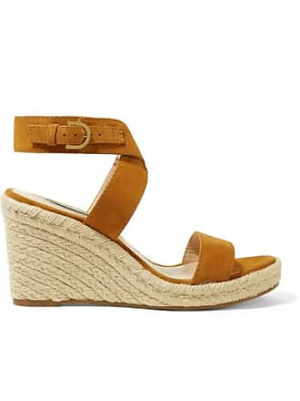 a2ce235bf62 Stuart Weitzman Lexia Suede Espadrille Wedge Sandals - Brown