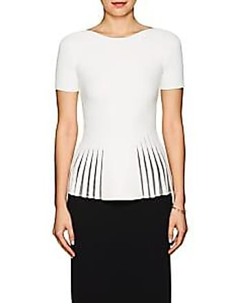 8d9db89588ae72 Zac Posen Womens Compact Knit Peplum Top - White Size XS