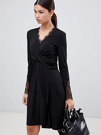 Y.A.S Tallulah wrap front dress - Black