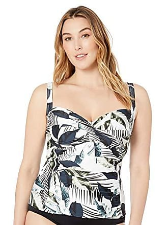 d7a20ef8e2 La Blanca Womens Plus Size Classic Over The Shoulder Tankini Swimsuit Top,  Monument of Zen