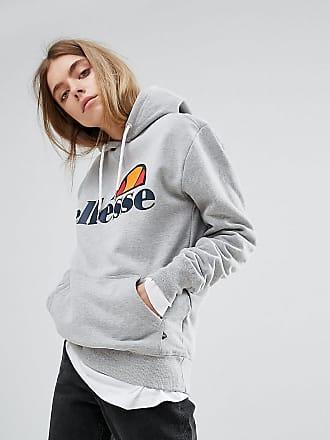 Ellesse Ellesse - Felpa con cappuccio stile boyfriend con logo sul petto -  Grigio 8af85aafc8b