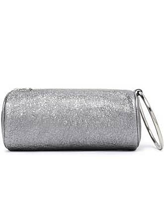 b552e81074 Kara Kara Woman Duffel Metallic Cracked-leather Clutch Silver Size